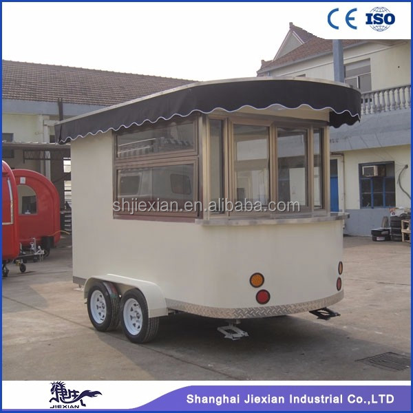Custom design JX-CR320 food cart refrigerator and street food cart trailer for sale