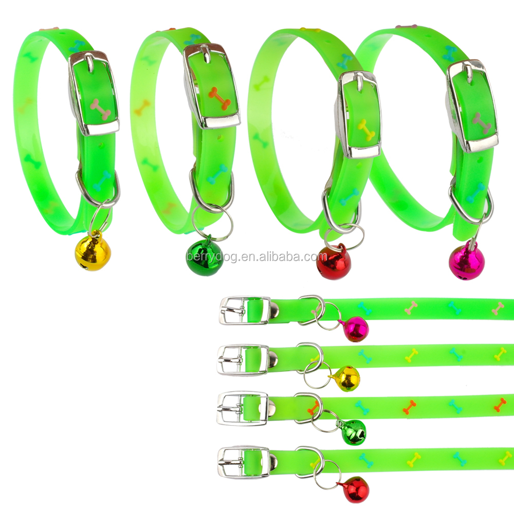 Berry High Quality Waterproof Fluorescent Silicone Dog Cat Collars