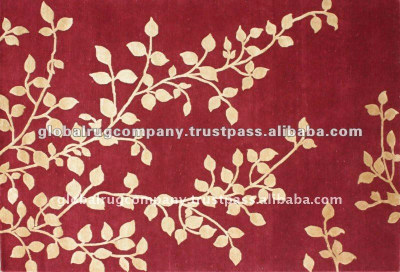 Hand Knotted Wool And Bamboo Silk Rugs Handmade In India