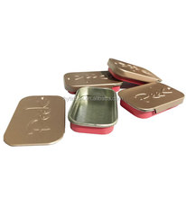 sliding lid Mini tin box with embossing