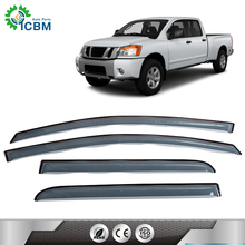 Reasonable price sunshades car can shroud injected mould window visor for TITAN 14-15