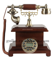 JIAHUA Brand Wooden Base Corded Landline Antique Telephone for Old People GBD-9051D