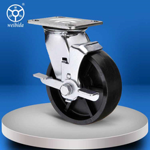 Good quality cheap price side mount caster wheel locking
