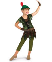 2016 Hot !!- little pilot green cute dance wear-performance costumes for girls of 10 years old