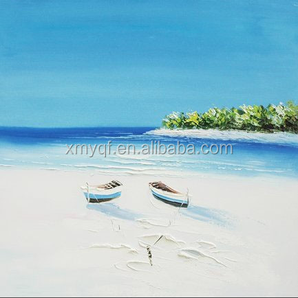 Handmade seaside landscapes canvas oil painting for hotel cafe wall art decoration
