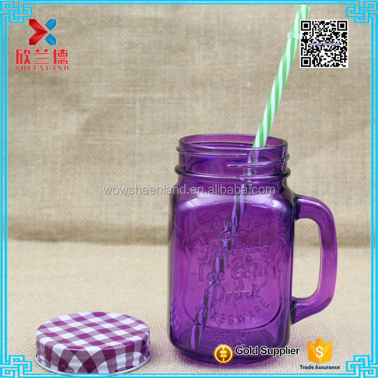 2016 Wholesale hot sale low price purple colored beer bottle