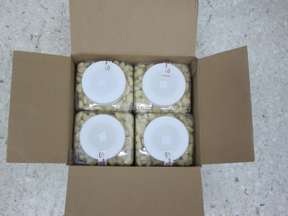 Peeled garlic supplier packed in plastic jar