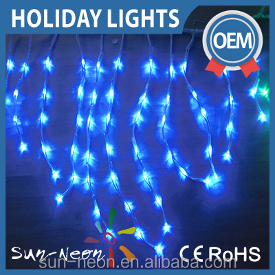 Holiday Time Lighting Indoor Outdoor Christmas Decoatives Led Icicle Light