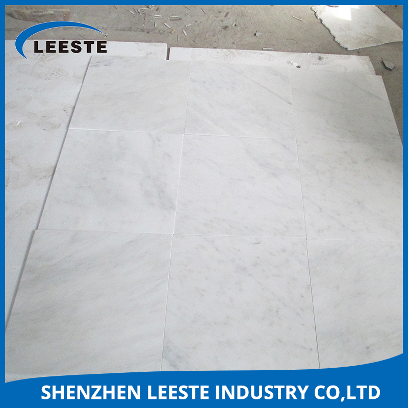 Mainly used in indoor toilet wall mined white polished surface marble stone tiles