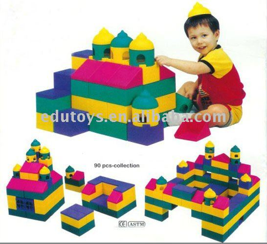 Wholesale toys for Kids hollow block plastic
