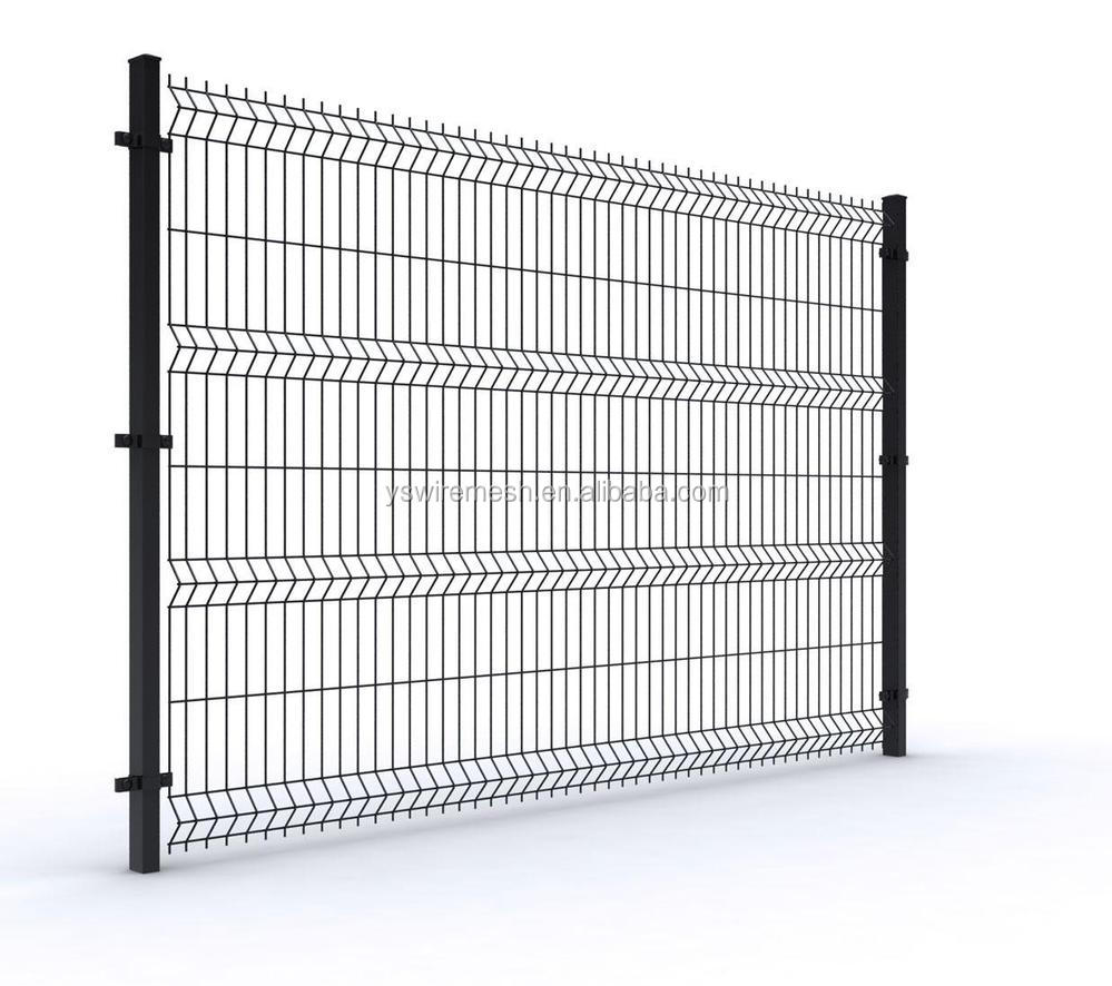Black welded wire fence mesh panel/decorative metal fence panels ...