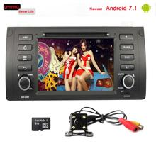 1 din car audio video radio player with gps for BMW E39 X5 M5 E38 E53 android 7.1 2G RAM mirror link steer wheel dab+ tpms