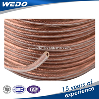 PVC cover copper or aluminum conductor transparent electric wire