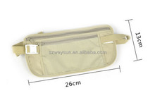 Travel Pouch Hidden Zippered Waist Compact Security Money running / sport Waist Belt Bag