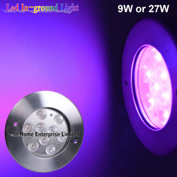 9W Lens Optional IP67 Led Underground Light for Outdoor Landscape Lighting