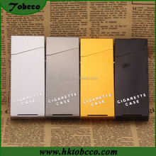 Yiwu Manufacture Smoke Fashion Portable Custom Cigarette Holder Slim 20 pcs Pack Lady's Aluminum Cigarette Case With Magnet