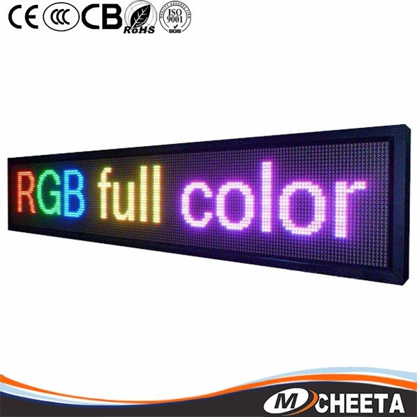 "2017 Low Price P5 P10 Outdoor Full Color Digital Scrolling Text Moving Message Mini Neon Open Programmable Led Sign Board 65""x22"