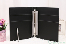 Office Stationery 3 Ring Binder,Leather Material 3 Ring Binder,Customized Size 3 Ring Binder