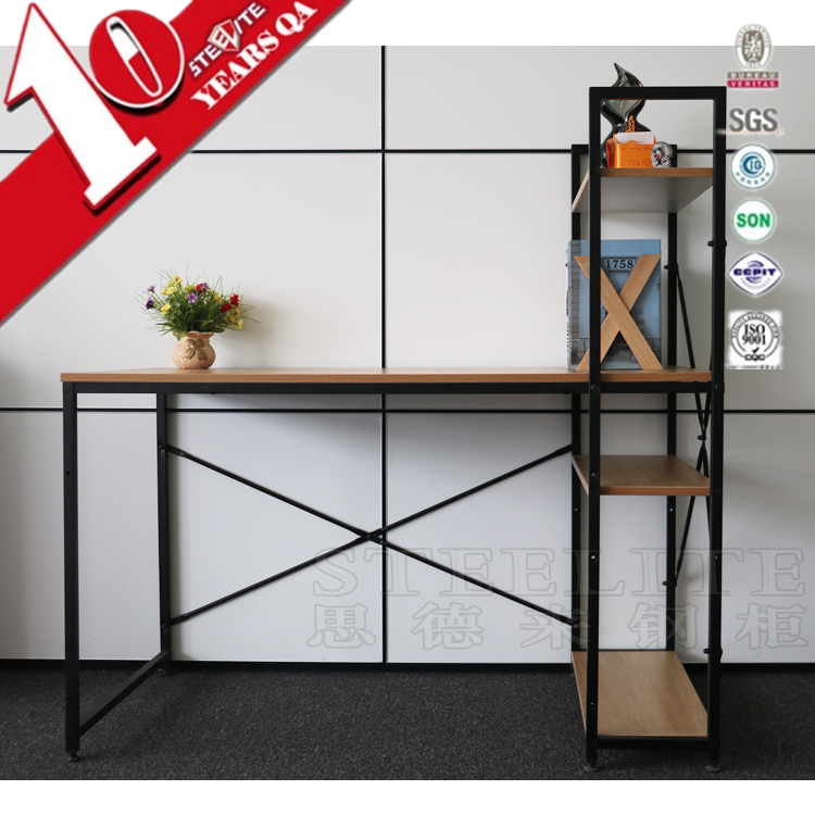 Luoyang Cheap Metal Computer Desk With Shelf