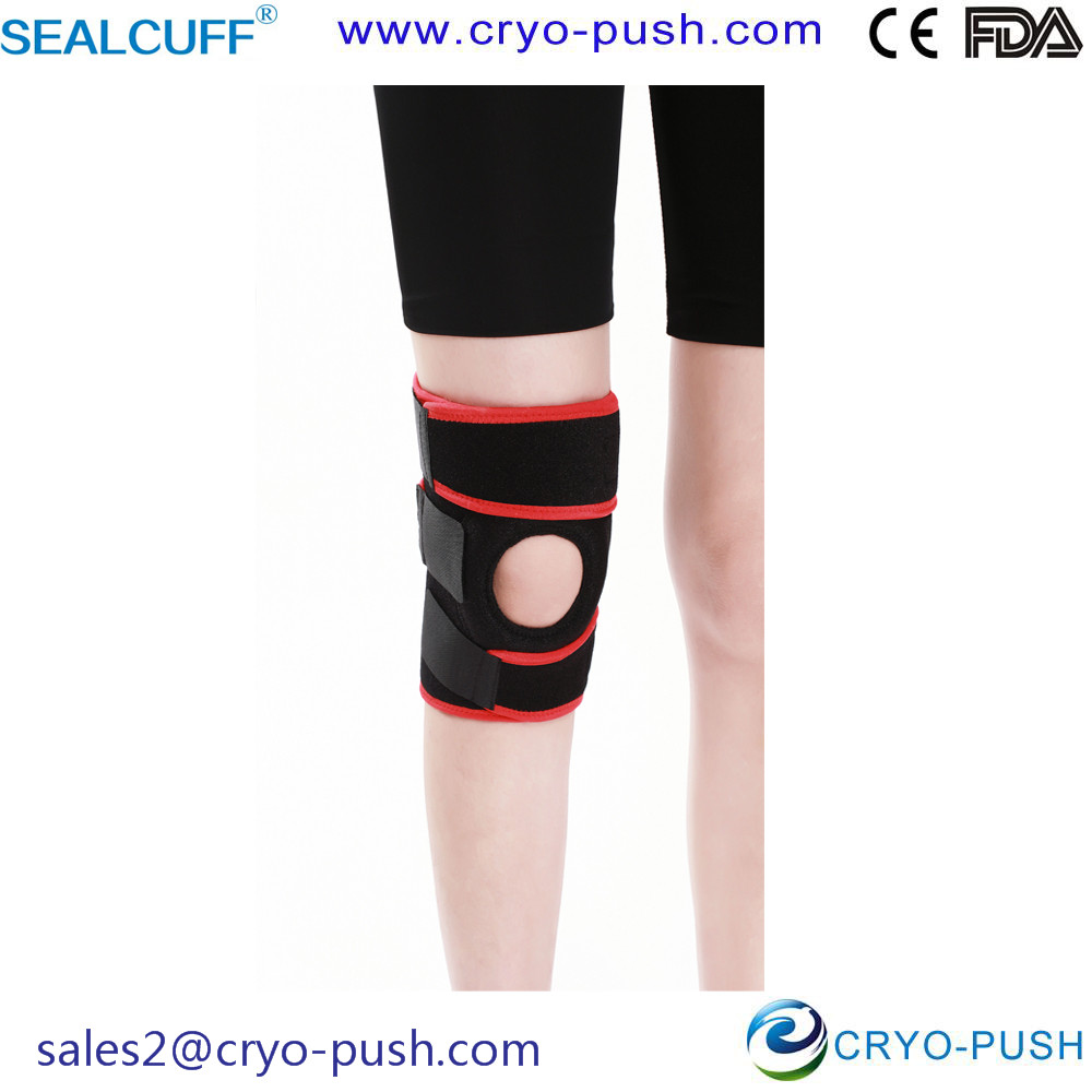 Sealcuff Knee Support for Knee Guard with Spring