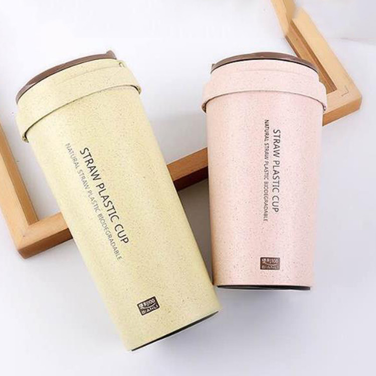 Wholesale 400ml/500ml Magic Mug Wheat Straw Coffee <strong>Cup</strong> With Lid