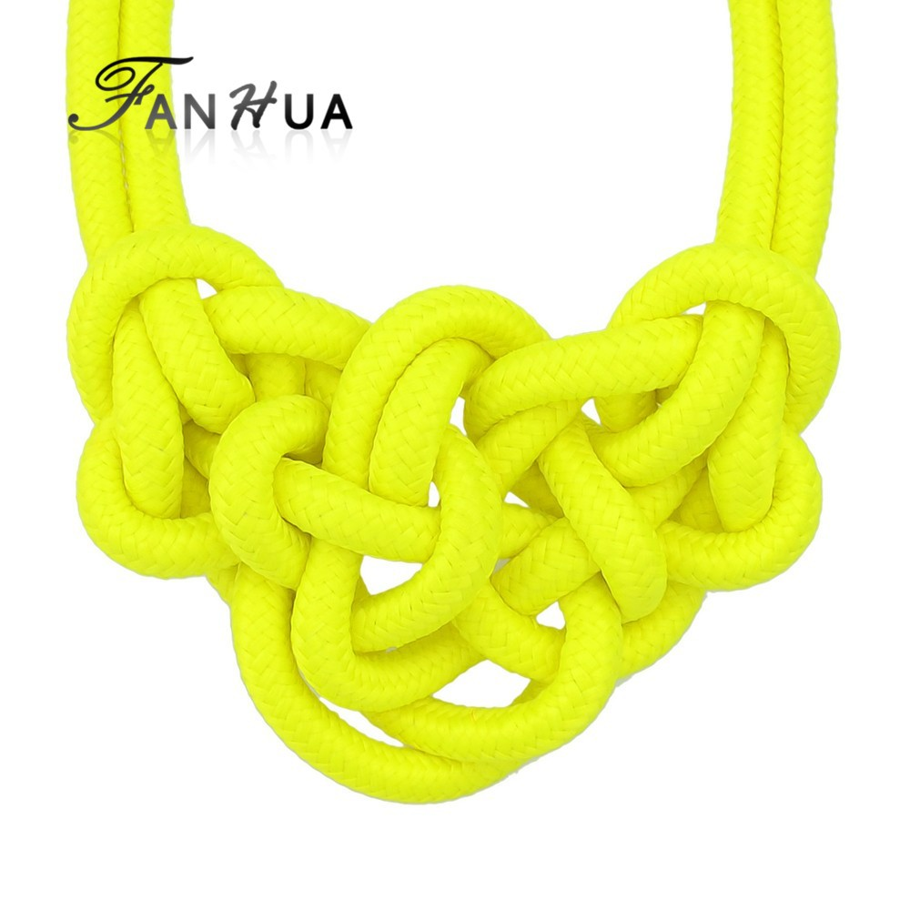 Fashion Colourful Knitted Rope Fashionable Choker Necklace