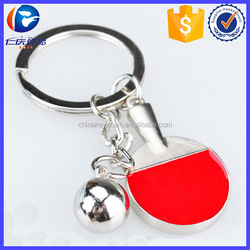 New Design Table tennis bat Different shapes Metal keychains