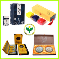 Cardboard Chinese tea packaging box with compartments cardboard
