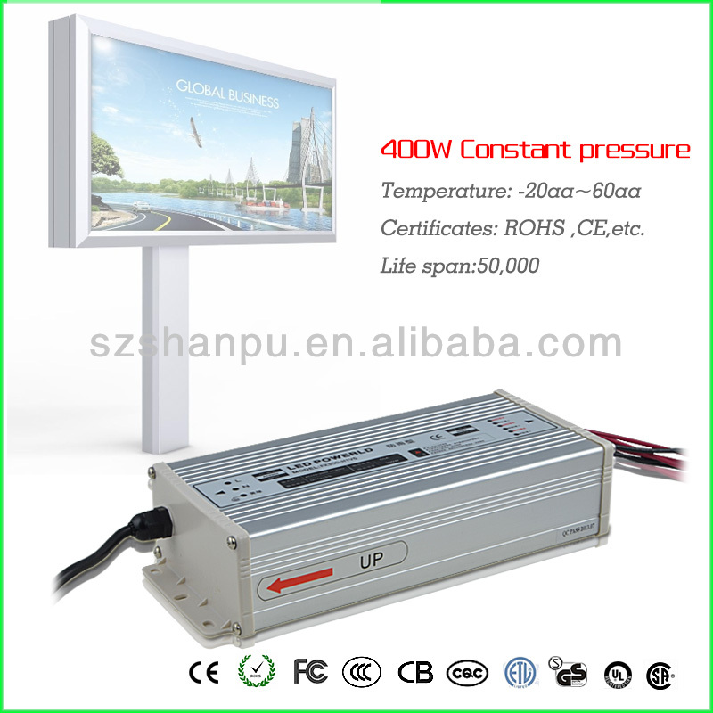 400w 175-240v LED Drivers Power Supplies waterproof constant voltage 13.8v dc regulated power supply