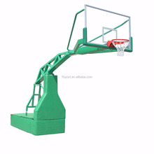 Portable Height Adjustable Manual-hydraulic Steel Base Indoor/Outdoor Basketball Stand/System