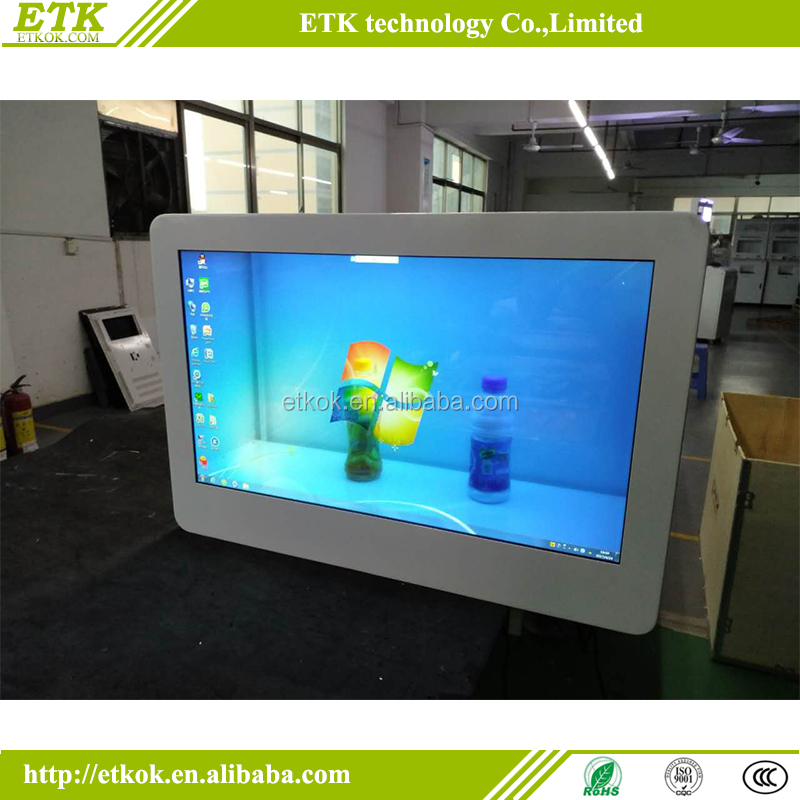 10.4 inch - 55 inch transparent lcd box with 90% transparency for advertising