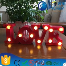 2017 best selling product love letter table for indoor decoration valentine factory direct with CE&ROHS
