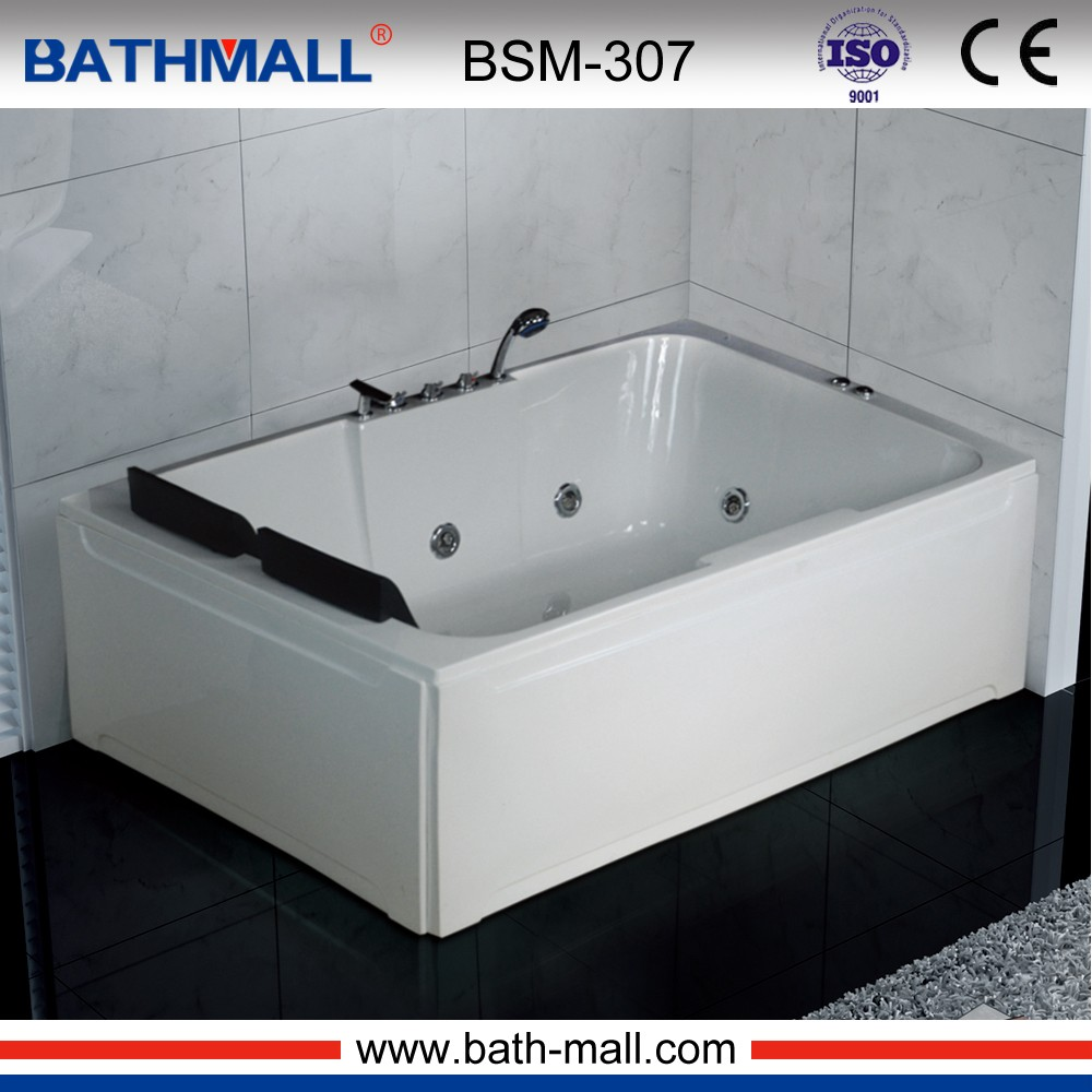 Custom size small square massage acrylic bathtub for spa