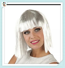 Cheap Adult Ladies Synthetic Party Short Silver White Wigs HPC-1961