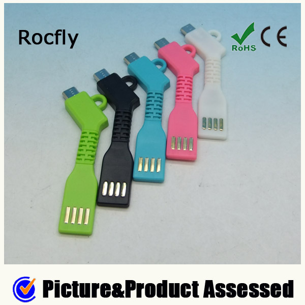 Colorful Flexible Charge And Sync USB Key Chain Chargers