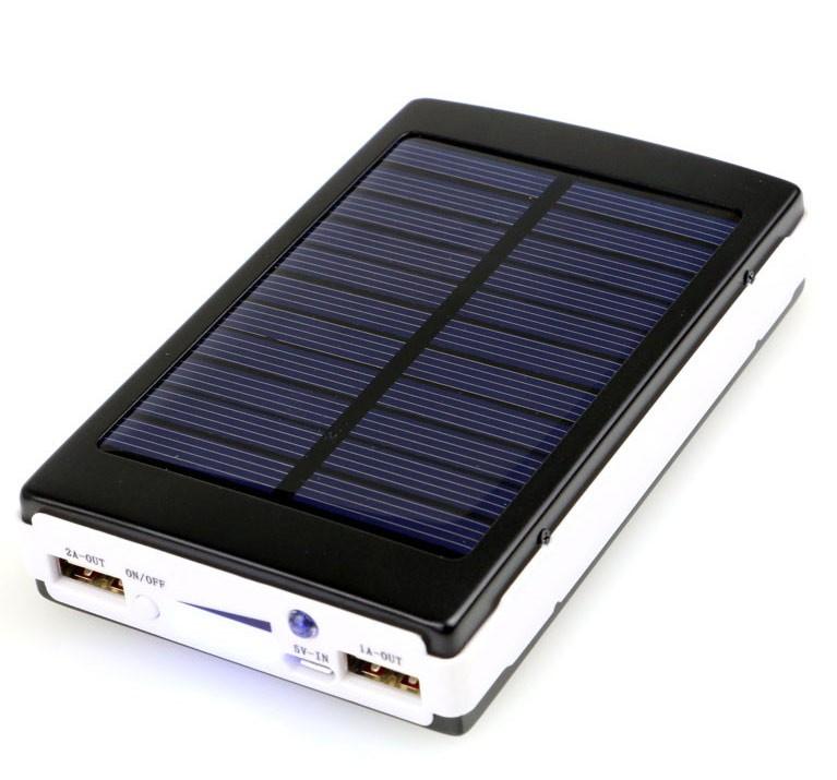 portable 20000 mah usb solaire power bank batterie de secours externe chargeur pour mobile. Black Bedroom Furniture Sets. Home Design Ideas