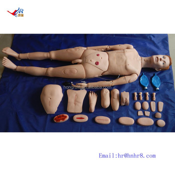 ISO Highly Detailed Male Nursing Manikin, Advanced Patient Care Training, operator training simulator