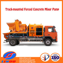 V8 High Efficiency Mobile Forced Concrete Mixer Hydraulic Pump Truck for sale