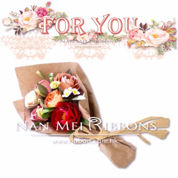 Special Bouquet Wrapping Decoration Great Idea Paper Raffia Ribbon for Simple Flower decoration sales promotion
