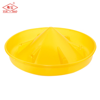 Poultry equipment for breeder farming plastic duck goose feeder with large capacity with cap