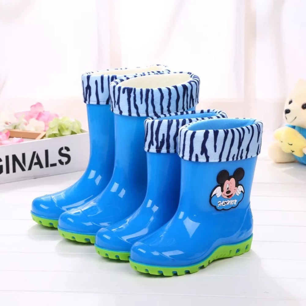 2017 Hot Sale Kid Shoe Anti-slip Rubber Big Middle School Children's Baby Boots