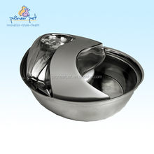 Stainless Steel Cat Dog Fresh Running Water Fountain Bowl Drinking Dish Filter