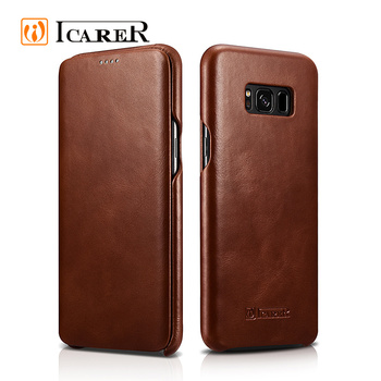 New Products Genuine Leather Mobile Phone Case for Samsung S8