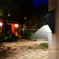 Free Shipping Residential IP65 Wall Mounted LED Lamp Solar Outdoor Lighting Kits