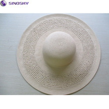 Wholesale big sun shade floppy straw hat manufacture panama summer beach straw hat
