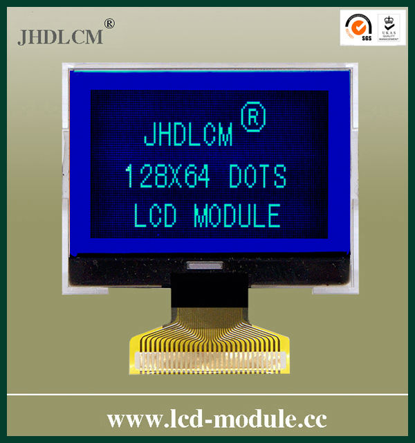 custom small lcd display JHD12864-G82BTB-BL