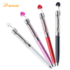 Hot Sales Crystal Pen and Metal Jewel Ball Pens With Love Pendant