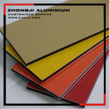 Wall cladding PVDF paint 4mm Aluminum composite panel ACP