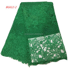 Latest Embroidery Designs Cord Lace Guipure Lace Fabric 100% Polyester African Mesh Lace For Party Dress Fabric BG612-2