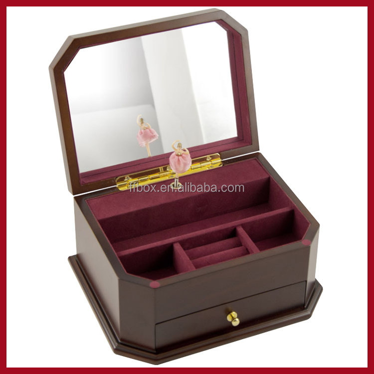 Ballerina Wooden wedding musical sound box